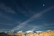Idaho Scenery Posters - Moon Over the Sierras Poster by Marius Sipa
