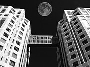 Irs Photo Posters - Moon Over Twin Towers Poster by Samuel Sheats