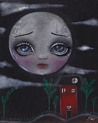 Big Eyed Art Framed Prints - Moon Queen Framed Print by  Abril Andrade Griffith
