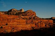 Winter Landscapes Photos - Moon rising in Utah by Robert  Torkomian