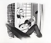 Tiffany Drawings - Moon River by Michelle Brown