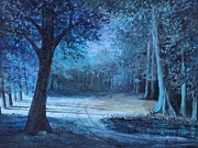 Clearing Painting Originals - Moon Shadows by Rita Smith