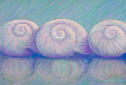 Salt Pastels Prints - Moon Shells Print by Audrey Peaty