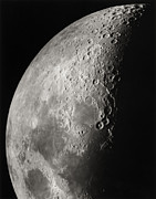 Moon Surface Framed Prints - Moon Surface Detail Framed Print by John Sanford