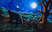 Appalachian Mountains Paintings - Moon Walk by Rainelle Meridith