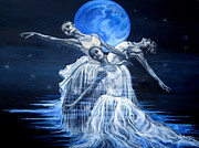 Ballet Dancers Paintings - Moondance by Sam Aplin