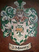 Armor Paintings - Mooney family crest by Nancy Rutland