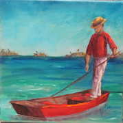 Key West Paintings - Mooney Harbor by Sarah Barnaby