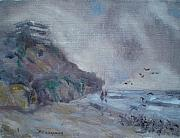 Foggy Day Originals - Moonlight Beach by Bryan Alexander