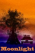 Fantasy Tree Mixed Media Metal Prints - Moonlight Metal Print by Bob Orsillo