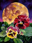 Full Moon Paintings - Moonlight Expressions by John Lautermilch