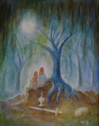 Hallows Paintings - Moonlight Hallows by Bernadette Wulf