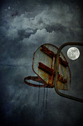 Full Moon Art - Moonlight Hoops by Emily Stauring