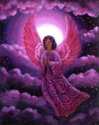 Night Angel Paintings - Moonlight Hope by Laura Iverson