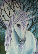 Unicorn Posters - Moonlight Poster by Lisa OMalley