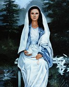Freedom Paintings - Moonlight Madonna by Gregory Clarke-Johnsen