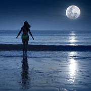 Moonlight Print by MotHaiBaPhoto Prints