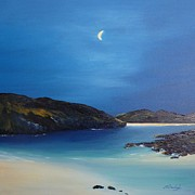 Scottish Art Originals - Moonlight on Mull by Margaret Denholm