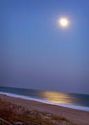 Moonlight On Ocean Print by Doris Rudd Designs, Photography