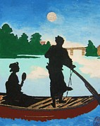 Moonlight Originals - Moonlight on the River by Pg Reproductions