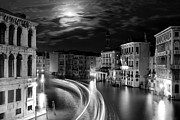 Moon Posters - Moonlight over Venice Poster by Floriana Barbu