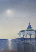 Bandstand Paintings - Moonlight Serenade by Brian Hastings Clough