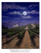Napa Valley Vineyard Paintings - Moonlight Serenade by Patrick ORourke