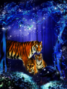 Julie L Hoddinott - Moonlight Tigers