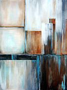 Silver Moonlight Paintings - Moonlight Whispers    Glass Houses Series by Josie Duff