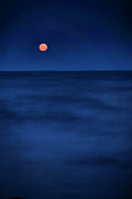 Moon Set Prints - Moonlit Atlantic Print by Christine Sharp