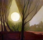 Dreamscape Paintings - Moonlit Dream by Donald Maier