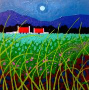 Moonlight Paintings - Moonlit Meadow by John  Nolan