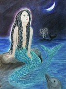 Mermaids Pastels - Moonlit Mermaid by Stella Wilcox