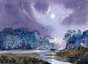 Moonlit Art - Moonlit night by Keith Lillie