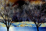 Moonlit Art - Moonlit Okanagan Lake by Will Borden