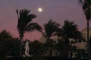 Moonlit Metal Prints - Moonlit Resort Metal Print by Shane Bechler