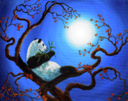 Zenbreeze Paintings - Moonlit Snack by Laura Iverson
