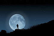Steve Purnell Photo Metal Prints - Moonlit Solitude Metal Print by Steve Purnell