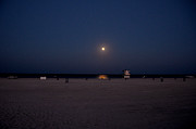 Miami Photos - Moonlit South Beach by Pravine Chester
