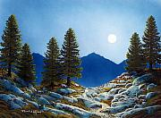 Moonlight Paintings - Moonlit Trail by Frank Wilson
