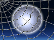 Catcher Digital Art - Moonlit Web by Stephen Younts