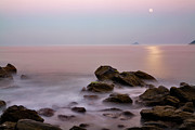 Sao Paulo Framed Prints - Moonrise at Maresias Beach Framed Print by Keith Kapple