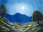Moonlight Paintings - Moonrise by Frank Wilson