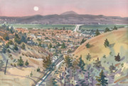 Hayward Originals - Moonrise Over San Mateo by Donald Maier