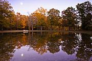 Fall Leaves Photos - Moonrise over Shiloh by Harry H Hicklin
