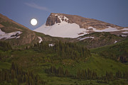 British Columbia Posters - Moonrise Over The Continental Divide Poster by Taylor S. Kennedy