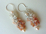 Peach Colored Originals - MoonShades Set - Earrings  by Marta Eagle