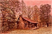 Stone Chimney Prints - Moonshine Print by Debra and Dave Vanderlaan