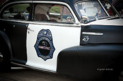 Patrol Car Framed Prints - Moonshine Patrol Framed Print by DigiArt Diaries by Vicky Browning