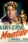 1940s Poster Art Framed Prints - Moontide, Jean Gabin, Ida Lupino, 1942 Framed Print by Everett
